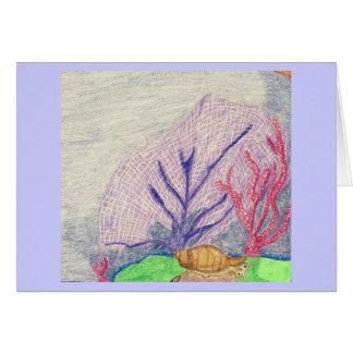 Carte L'escargot de mer et le jardin de corail