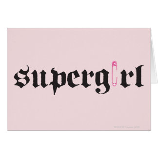 Carte Lettre de goupille de sécurité de Supergirl