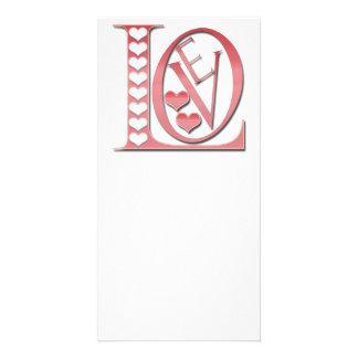 Carte Lettres d'amour avec des coeurs par Shirley Taylor