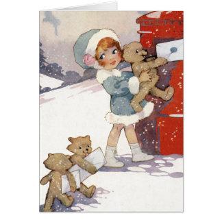 Carte Lettres de Noël de signalisation par Agnès