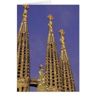 Carte L'Europe, Espagne, Barcelone Sagrada Familia