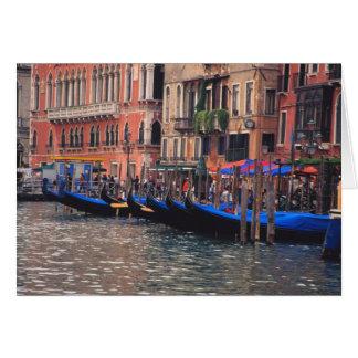 Carte L'Europe, Italie, Venise, gondoles dans le canal