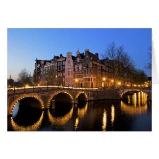 Carte L'Europe, Pays-Bas, Hollande, Amsterdam,