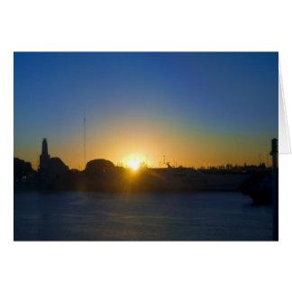Carte Lever de soleil au port de Buenos Aires