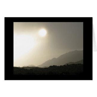 Carte Lever de soleil dans le haut désert