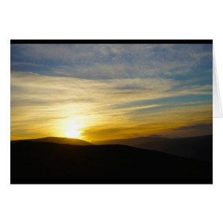 Carte Lever de soleil sur l'automne