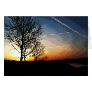Carte Lever de soleil sur l'Ohio. Masquez à l'intérieur