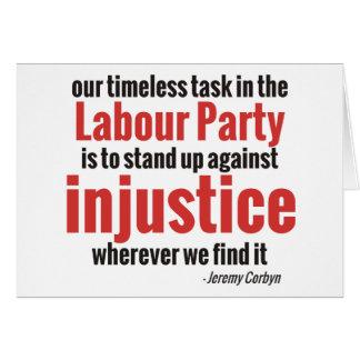 Carte Levez-vous contre l'injustice