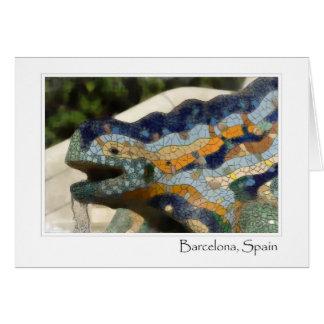 Carte Lézard de mosaïque de Barcelone Espagne Parc Guell