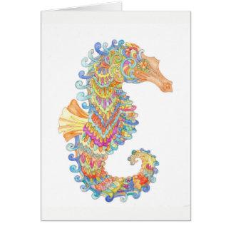 Carte L'hippocampe célèbre le carnaval