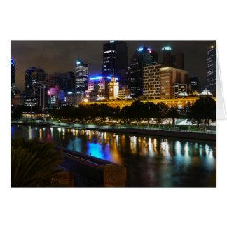 Carte L'horizon renversant de rivière et de ville de