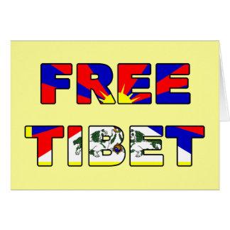Carte libre du Thibet