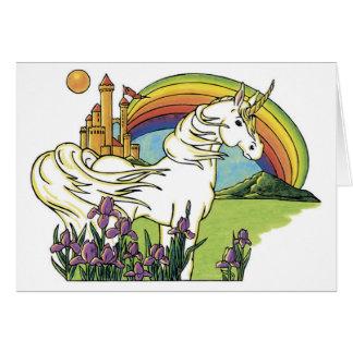 Carte Licorne de conte de fées