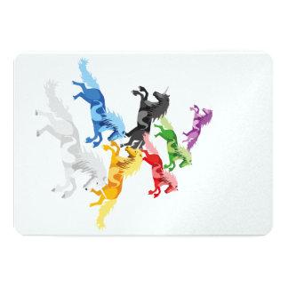 Carte Licornes sauvages colorées d'illustration