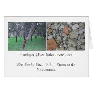 Carte Liège et pierres - Italie