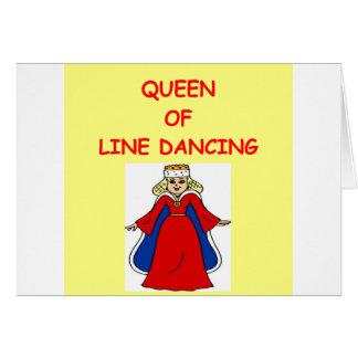 Carte ligne danse