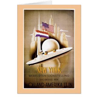 Carte Ligne New York de la Hollande Amérique