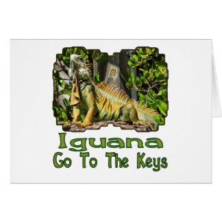 Carte L'iguane vont aux clés