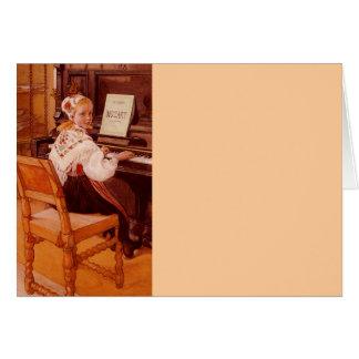 Carte Lillanna pratiquant Mozart sur le piano
