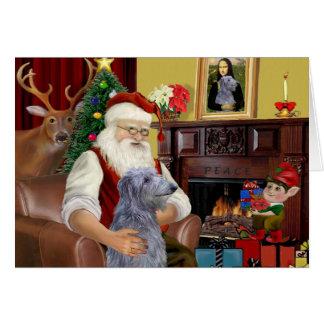 Carte Limier de Scottsh de Père Noël