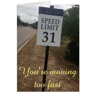 Carte Limitation de vitesse de rapport