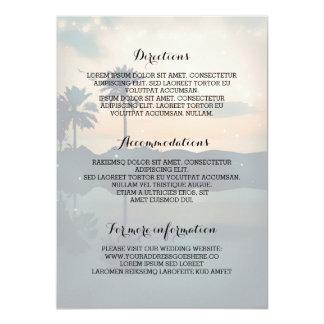 Carte L'information de détails de mariage de plage de