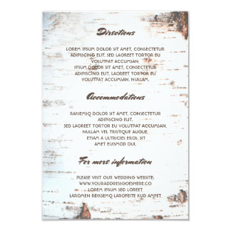Carte L'information de détails rustique de mariage