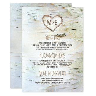 Carte L'information rustique de mariage de coeur