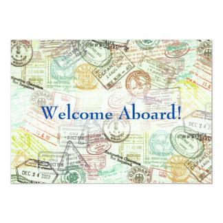 Carte L'invitation de voyage de timbre de passeport