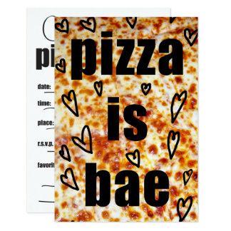 Carte L'invitation/pizza de partie de pizza est