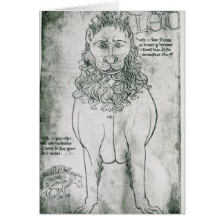 Carte Lion et porc-épic de Mme Fr 19093 fol.24v