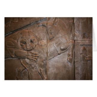 Carte Lion et Taureau : Bas-Soulagement persan