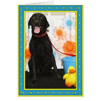 Carte Lion - Labrador noir -2