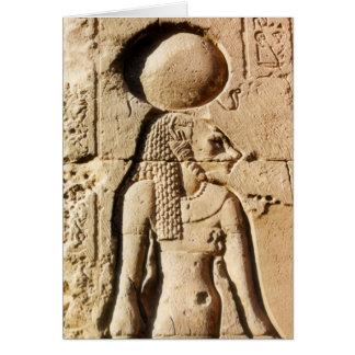 Carte Lionne de Sekhmet hiéroglyphique