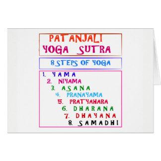 Carte Liste de compilation de Sutra de yoga de PATANJALI