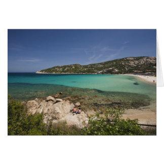 Carte L'Italie, Sardaigne, Baja Sardaigne. Plage de