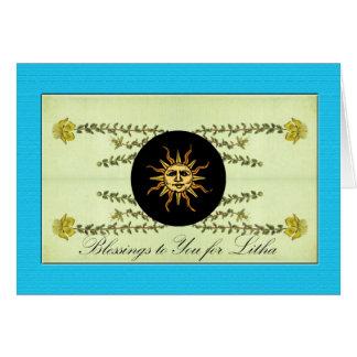 Carte Litha, solstice d'été, herbe du moût de St John