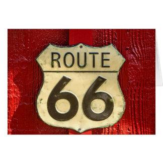 Carte L'itinéraire 66 des USA se connectent le bouclier