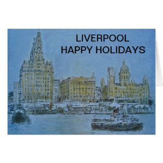 Carte Liverpool bonnes fêtes par Colin Carr-Nall