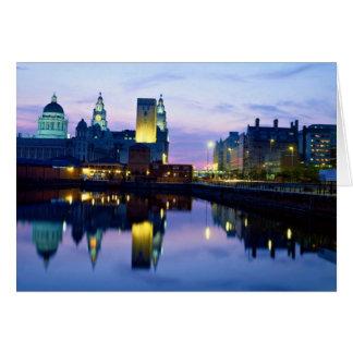 Carte Liverpool la nuit, Angleterre