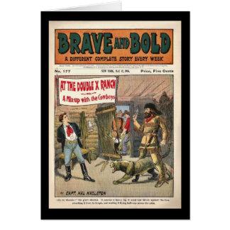 Carte Livre comique occidental périodique courageux et
