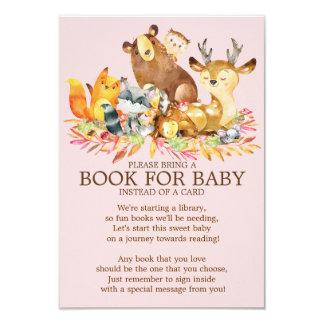 Carte Livre de baby shower de filles d'animaux de région
