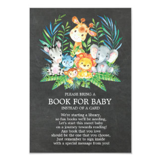 Carte Livre de baby shower de jungle de safari de