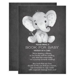 Carte Livre de baby shower d'éléphant de tableau pour la