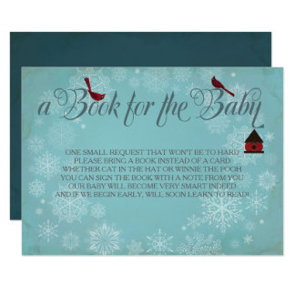 Carte Livre pour le bébé, insertion bleue d'hiver