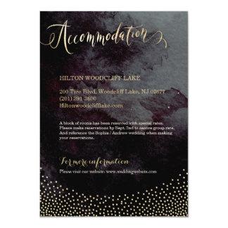 Carte Logement noir fascinant de calligraphie de