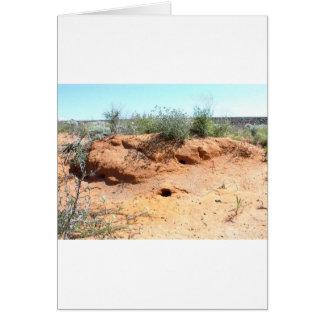 Carte Logements de créature de désert en sable rouge