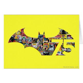 Carte Logo de Batman 75 - couvertures comiques