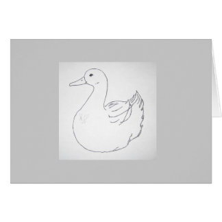 Carte logo de canard