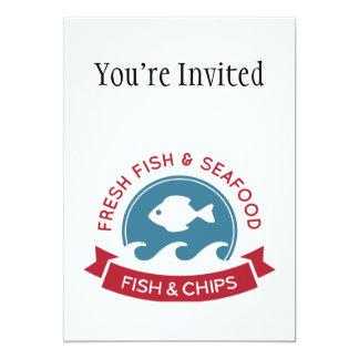 Carte Logo de fruits de mer de poisson-frites